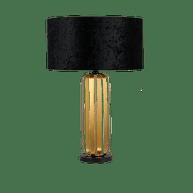 Lámpara Clásica de Mesa Acab. Negro Gold Modelo 3LMTP536