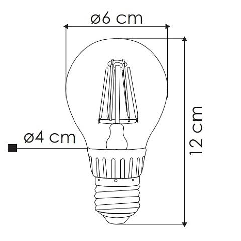 Bombilla LED Filamento Vintage 6W Luz Cálida E26