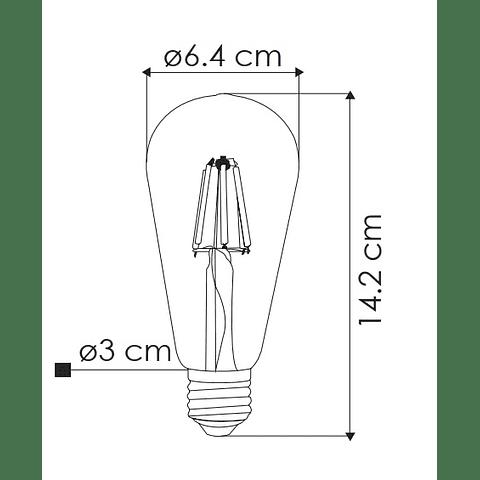 Bombilla LED Filamento Vintage 6W Luz Cálida ST64