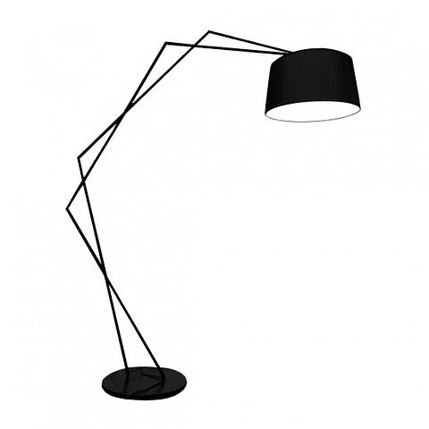 NYX Lampara de piso Negro E26 Metal y Cristal Q48088-BK