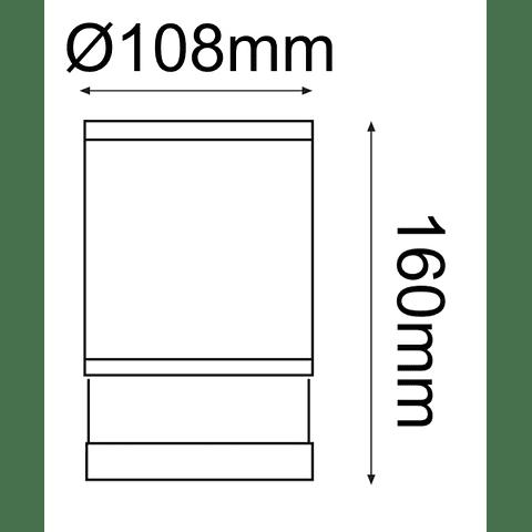 EOS Luminaria de Sobreponer a Techo E26 Blanco 22-7133-01