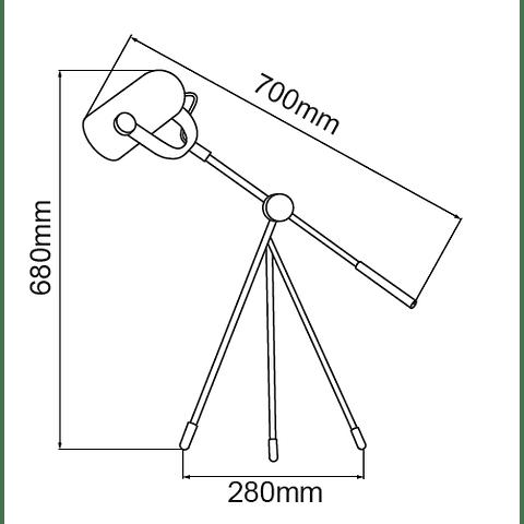 Q60558-BK PIXEL Mesa Acab. Negro Mate 1 luz E26