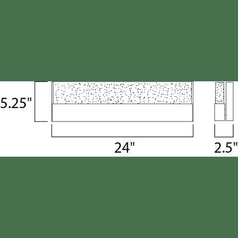 "Fizz III 24"" LED Vanity E22757-89PC arbotante a muro"