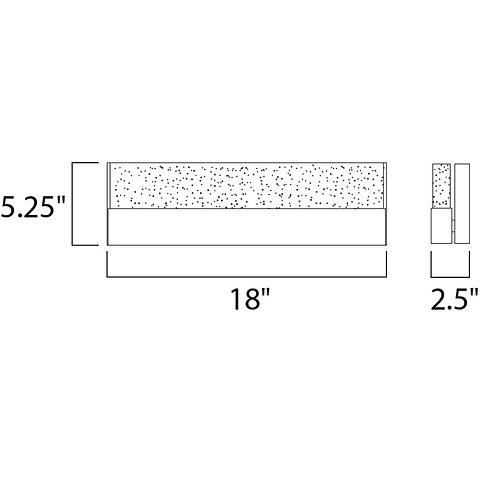 "Fizz III 18"" LED Vanity E22756-89PC Arbotante a muro"