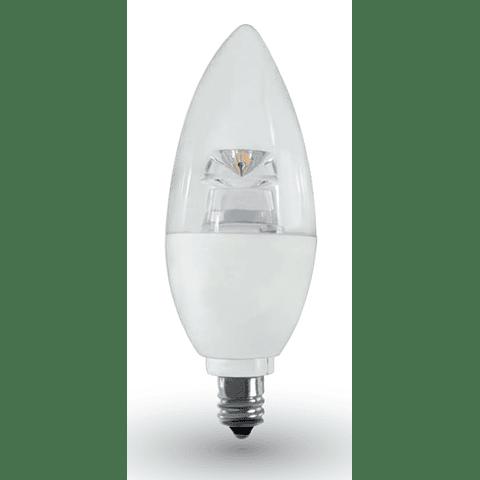 Lámpara LED Tipo Vela 4W Blanco Cálido E12