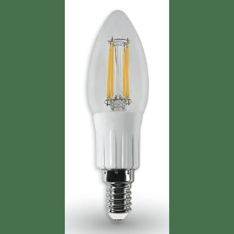 Lámpara LED Tipo Vela Filamento Vintage 4W Blanco Cálido E26