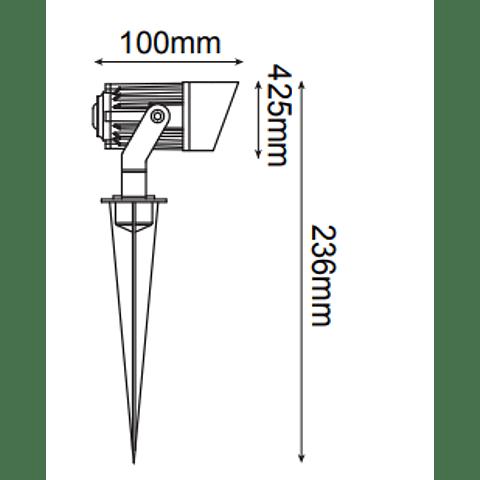 "ONDINA MINI"" LED EPISTAR COB 5W, IP65 Mod. 05-9205"