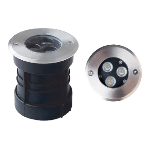 Empotrable a Piso Terra, LED 3W, 45°, D100*H108mm Mod. 07-30100