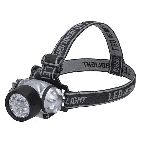 136027 Linterna para cabeza 7 LED para pilas 3AAA Pack 6 Pzs. Surtek