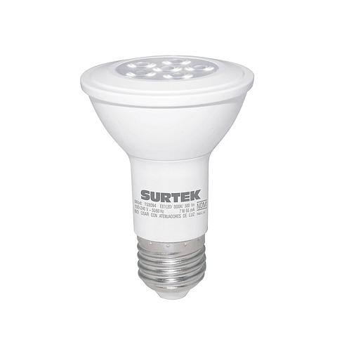 Foco LED PAR20 7W luz cálida Surtek Mod. 153094