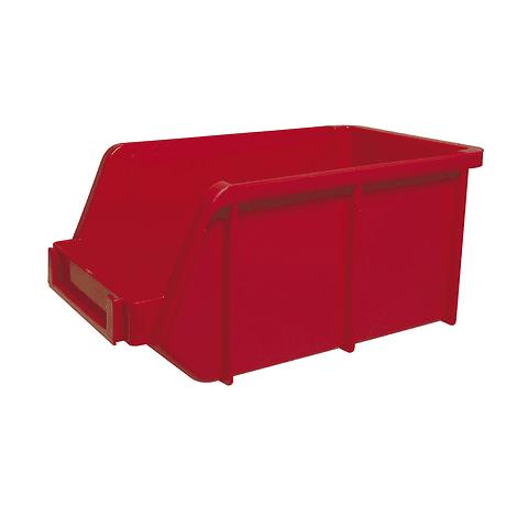 """Gaveta plástica roja 14.5x8.5x7"""" Surtek Mod. 125215 Paq. 3 Pzas."""