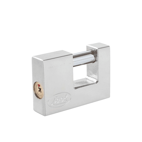 L22C70TCSB Candado de acero para cortina llave tetra cr70mm cromo satinado