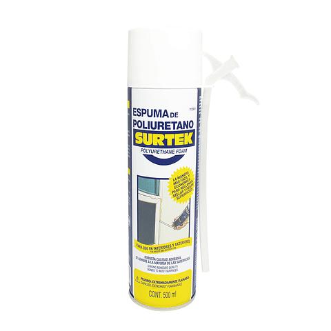 113501 Espuma de poliuretano uso industrial 500 ml Pack 12 Pzs. Surtek
