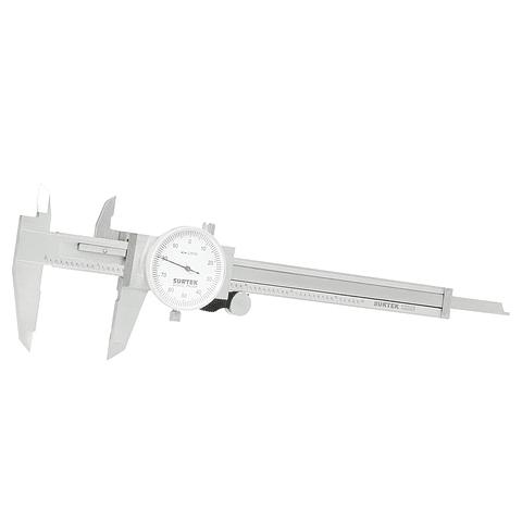 """Calibrador pie de rey de carátula 0-6"""" Surtek Mod. 122202"""