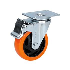 """RV5B Rodaja de PVC giratoria con freno de 2"""" Surtek"""