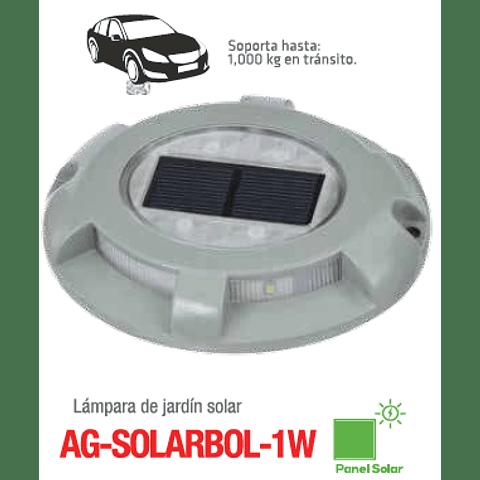 AG-SOLARBOL-1W-BC Empotrable a Piso Solar Blanco Cálido 3000K