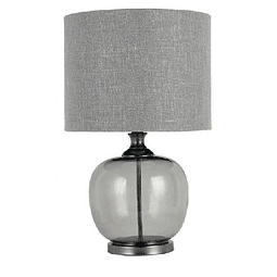 3LMTP534 Lámpara de Mesa Estilo Clásico Color Gris Vidrio