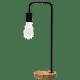 3LMTP414 Lámpara de Mesa Estilo Vintage Foco E26 Base Madera