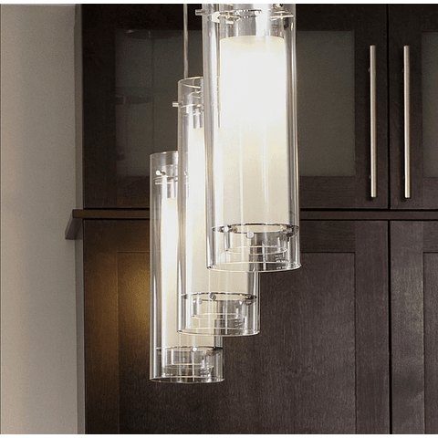 E22000-10 Lámpara Frost 1-Luz Vidrio y Cromo E26