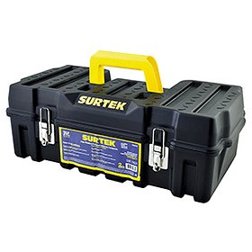 """CPSC20 Caja portaherramientas plástica 21"""" compacta broches de metal Surtek"""