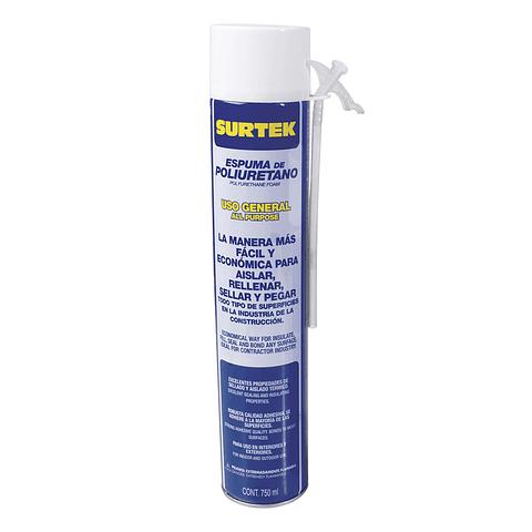 113522 Espuma de poliuretano uso general 750 ml Surtek Pack 12 Pzs.