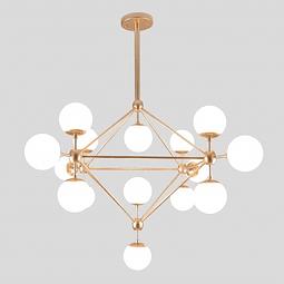 Miró Pendant Opalina E26 127V 15 luces*40W Q16082-WT