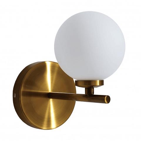 Q31261-GD Sonne Muro Opalina G9 1 luz*25W acab. Oro Antiguo