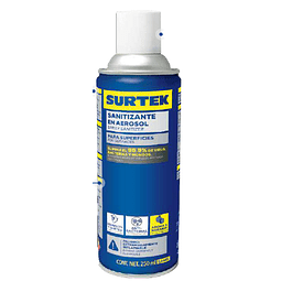 Sanitizante en Aerosol 250 ml Biodegradable Marca Surtek SAN01
