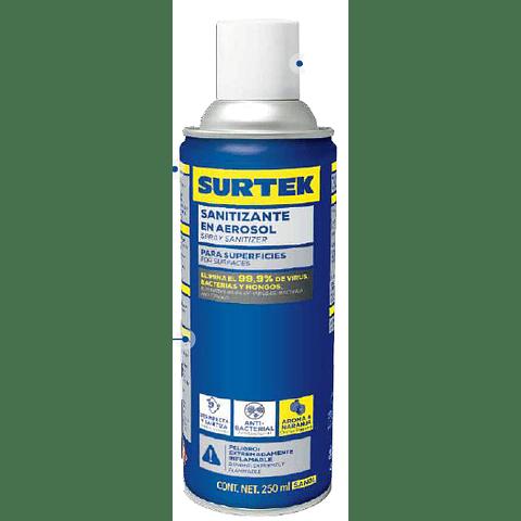 Sanitizante en Aerosol 250 ml Biodegradable Marca Surtek SAN01