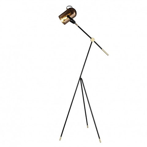 PIXEL Lámpara pie acab. cristal cobre y oro Q60664-CP