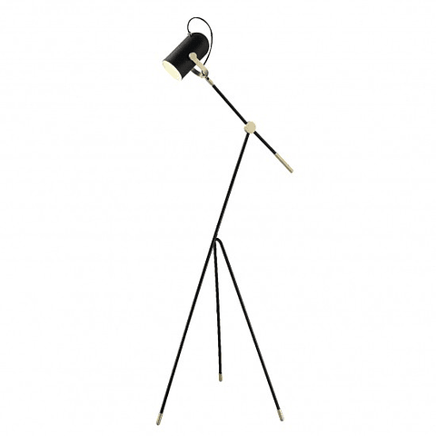 Q60599-BK Lámpara de piso PIXEL negro mate E26