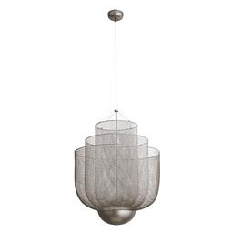 Q48167-NI Lámpara Decorativa LED Cloé D600*H813 LED 127V 1*18W Níquel