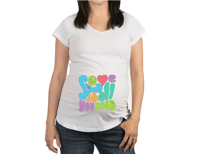 Camiseta De Mujer Embarazada The beatles Baby Monster