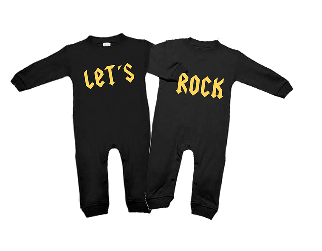 Ropa para bebe pijamas duo Rock let's Rock baby monster