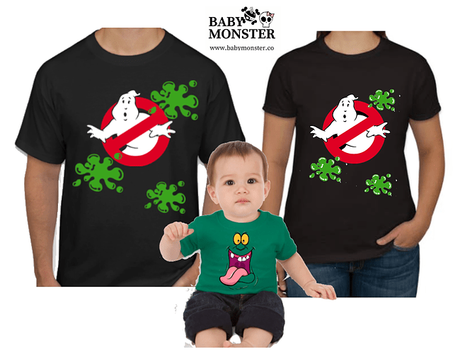 Halloween Tríos camisetas para Mamá  papá y bebe caza fantasmas