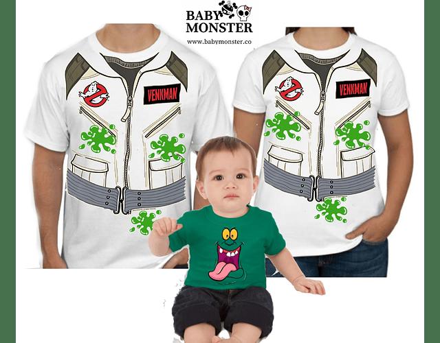 Halloween Tríos camisetas para Mamá  papá y bebe caza fantasmas verkman