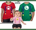 Halloween Tríos camisetas para Mamá  papá y bebe Familia Mario bross