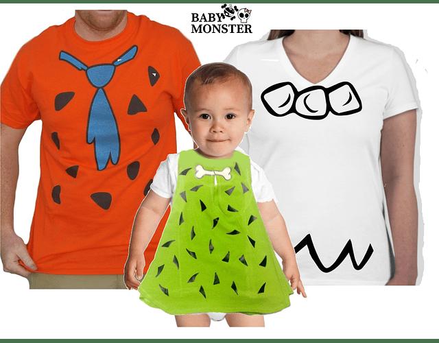 Halloween Tríos camisetas para Mamá  papá y bebe Familia Picapiedras