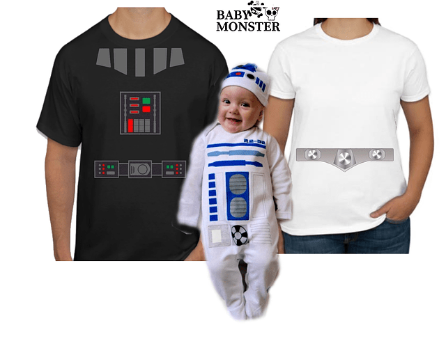 Halloween Tríos camisetas para Mamá  papá y bebe Familia Star wars