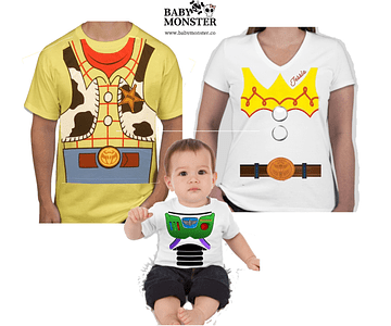 Halloween Tríos camisetas para Mamá  papá y bebe Familia Toy Story