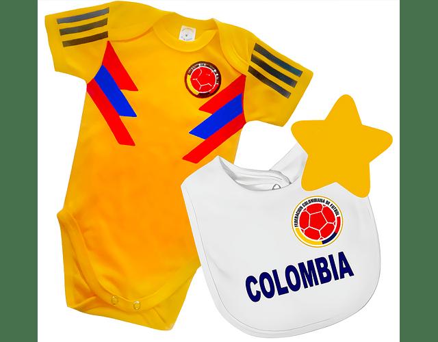 Ropa Para Bebe Body Bodie mas babero Futbol Seleccion Colombia 2018