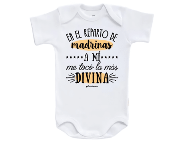 Ropa Bebe Body Bodie Madrina Divina Baby Monster