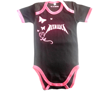 Ropa Para Bebé Body-Bodie Metallica Baby Monster Rosado