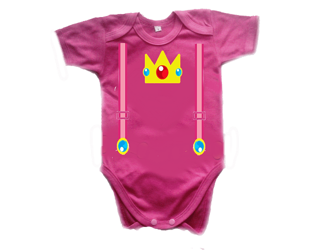 Ropa Para Bebe Body Bodie Princesa Peach Mario Bross