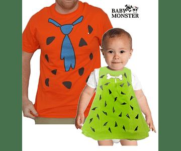 Halloween Duo camisetas para Papá y bebe Picapiedras