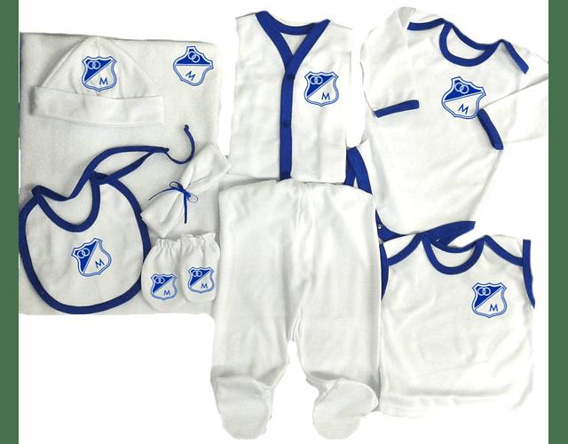 Set Primera Muda Futbol Millonarios Para Bebe Baby Monster