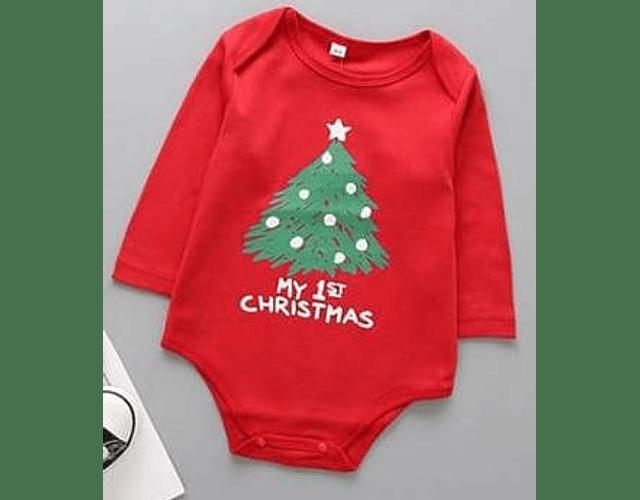 Ropa Bebe Body Bodi primera navidad Baby Monster