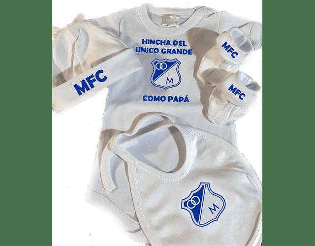 Set Primera Muda sencilla Futbol Millonarios Para Bebe Baby Monster
