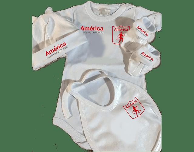 Set Primera Muda sencilla Futbol America Para Bebe Baby Monster
