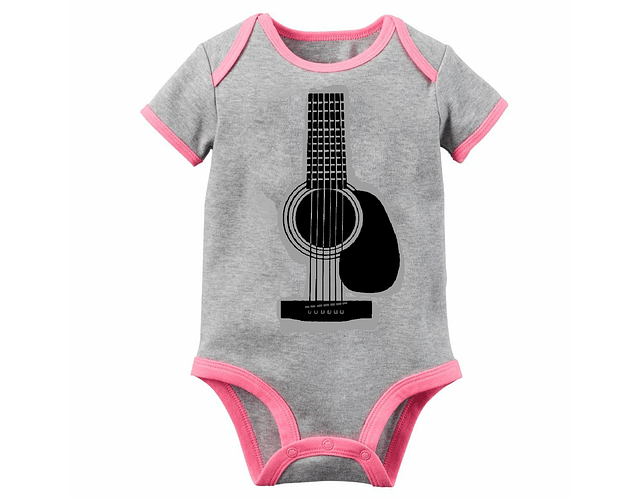 Ropa Bebe Niña Body Bodie Guitarra Rock Baby Monster